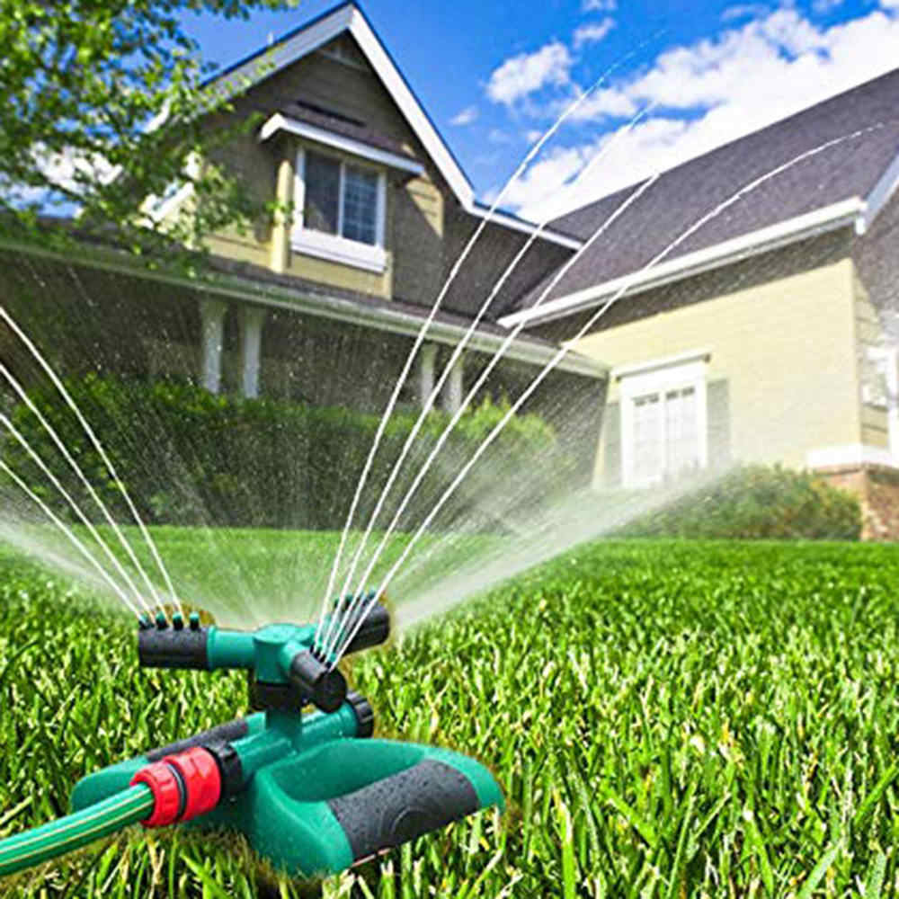 360°Garden Lawn Sprinkler Automatic Rotating Yard Grass Water Irrigation system