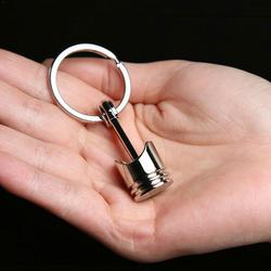 Поршневой двигатель брелок кольцо брелок для ключей брелок хром оптом большой Размеры Drop небольшой Серебристый Брелок для ключей оптом