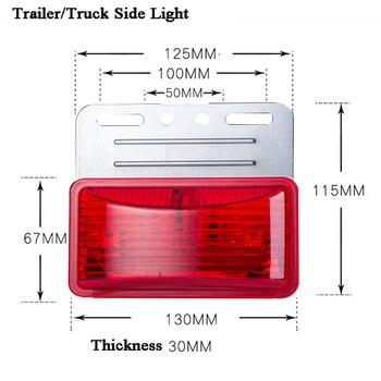 4 Uds. Marcador de estacionamiento para camión/remolque de 24V/luz LED Lateral/niebla de advertencia/lámpara de borde/luz flotante/luz de seguridad/indicador de luz/