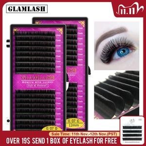 Image 1 - GLAMLASH 16Rows premium sable false natural matte black eyelash extension wholesale eye lashes extension cilia makeup eyelashes