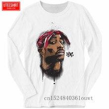купить Men Tupac 2pac Rapper Rap Long Sleeve Print T-shirts Unisex Harajuku Funny T Shirts Long Sleeve T Shirt Men Streetwear дешево