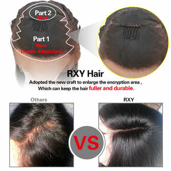13X6 Lace Front Wig RXY Brazilian Wig Lace Front Human Hair Wigs For Women 13X4 Straight Lace Front Wig With Baby Hair Remy Hair