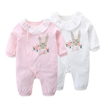 Infant Clothing Spring Overall Rabbit Print Baby Clothes Boys Jumpsuit Newborn Costumes Girls Rompers