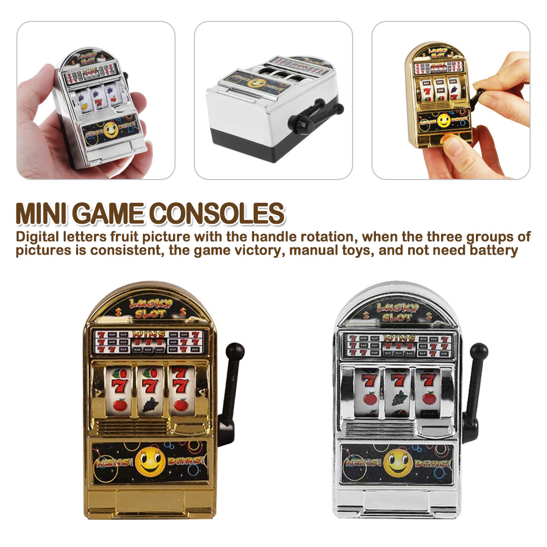 Coin Bank Toy Crazy Diamonds Slot Machine Adult Home Casino Jackpot Game Spin