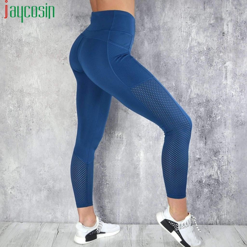 Push Up Fitness Leggings Women High Waist Workout Legging With Pockets Patchwork Leggins Pants Women Fitness Clothing