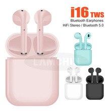 2019 New i16 TWS Earphones Bluetooth 5.0 Earphone Wireless Earbuds In Ear with Mic for iPhone Pk i12 i13 i14 i15 tws