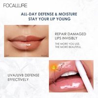 FOCALLURE PLUMPMAX Nourise Lip Glow High Shine&Shimmer Glossy Lips Makeup Non Sticky Plumping Lip Gloss 5
