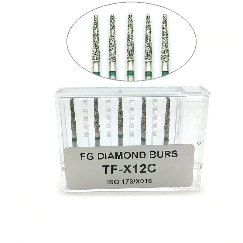 5pcs Diamond FG High Speed Burs For Polishing Smoothing Dental Burs Dentist Tools Hot Sale TF-X12C