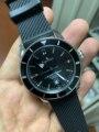 Элитный бренд новый Для мужчин серебристый, Черный автоматические механические Нержавеющаясталь часы с сапфировым стеклом резиновый бра...