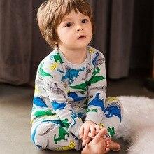 Clothing-Set Cotton Pijamas-Set Sleepwear Nightwear Dinosaur Animal Baby-Boy-Girl Autumn