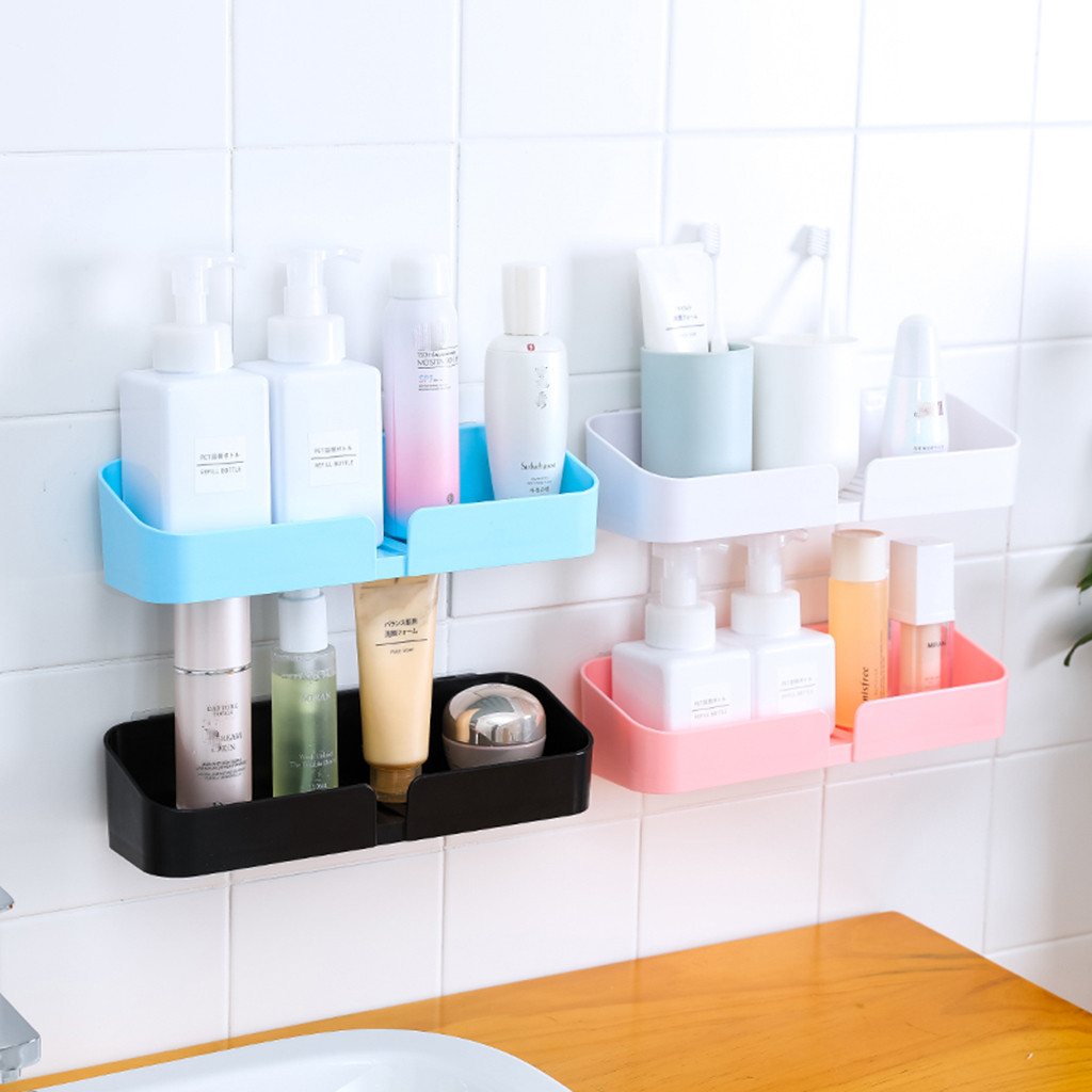 Bathroom storage rack bathroom supplies storage rack bathroom vanity bathroom shelf toilet free punch wall hanging L0807