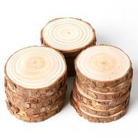 20 шт./упак. необработанные натуральные круглые деревянные ломтики круги