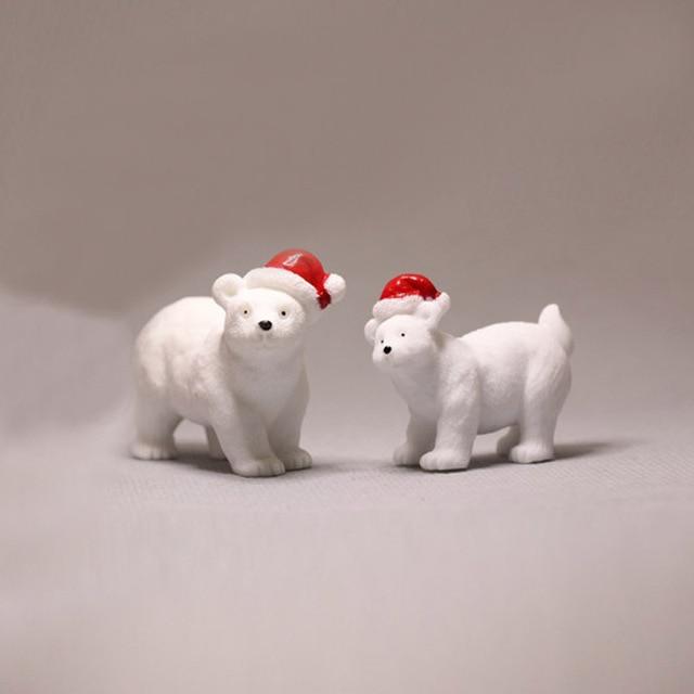 polar bear penguin/fairy garden/terrarium decor/ vintage home decor/Christmas birthday gift/miniatures animals/figurine/diy 5