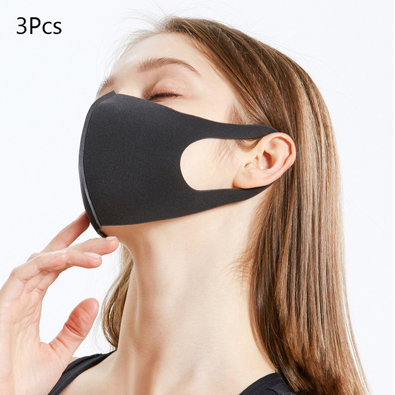 3 Pcs Prevent Dust Haze PM2.5 Washable Earloop Face Breathing Mask Cycling Anti Dust Environmental Mouth Mask Respirator Fashion