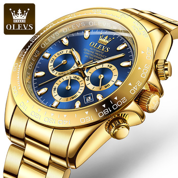 Olevs Men's Automatic Mechanical Watch Waterproof Stainless Steel Strap Men's Mechanical Watch Fashion 1