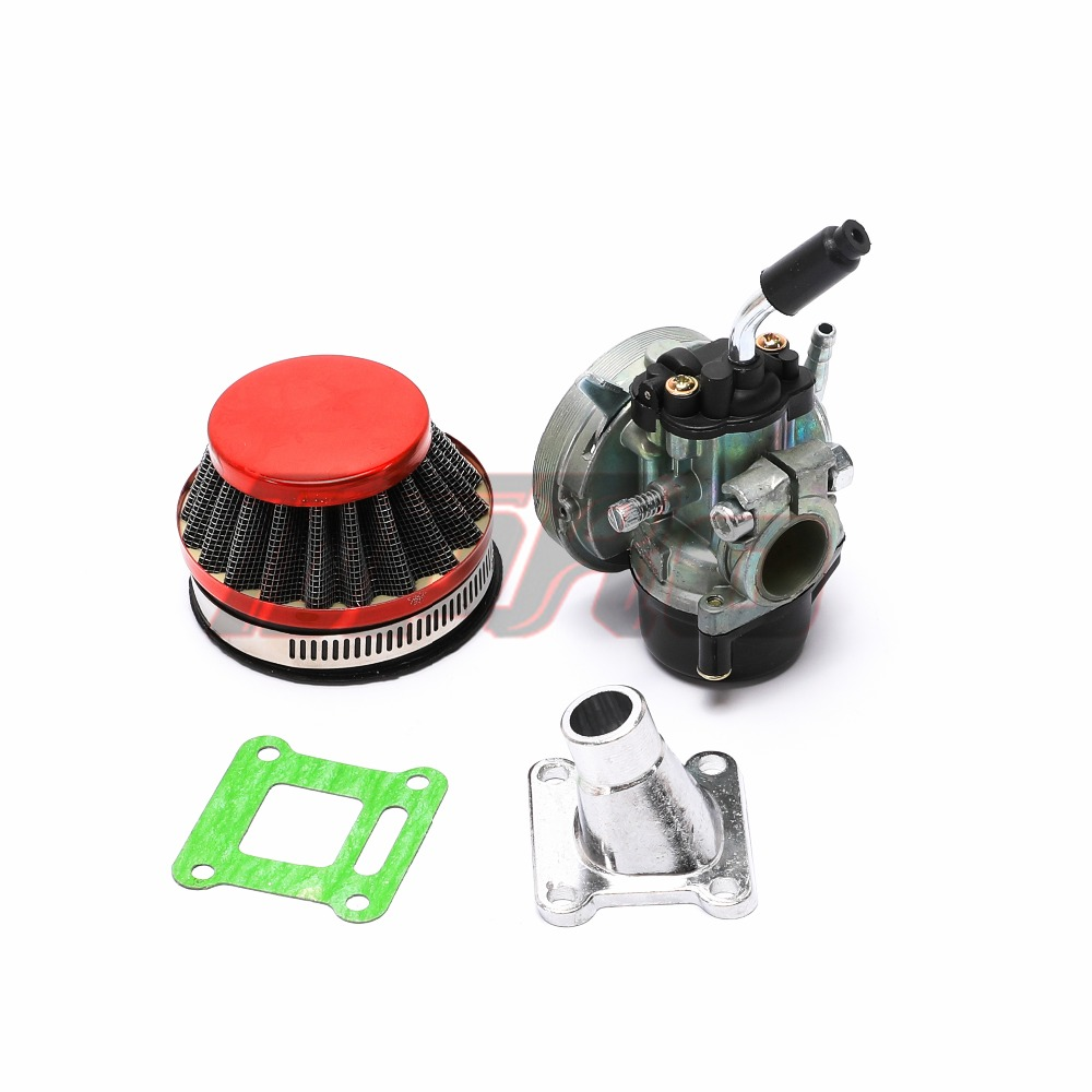 Carb Carburetor Air Filter Assembly Replacement for 49cc 50cc 60CC 66CC 70cc 80cc 2 Stroke Engine Rcooter Motorized Bicycle,Mini Pocket Bike,Quad Chopper ATV