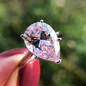 Image 3 - Pansysen Fonkelende Geel Chrysoberyl Engagement Ringen Voor Vrouwen Echt 925 Sterling Zilveren Sieraden Ring 8 Kleuren Big Size 5 12
