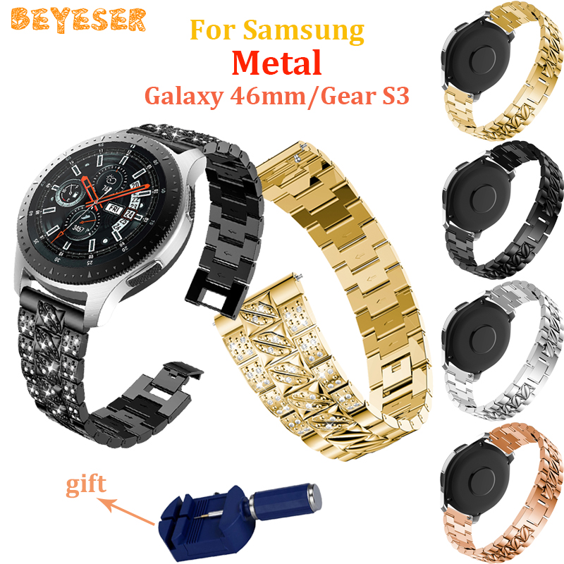 Rhinestone Bracelet For Samsung Gear S3 Classic/Frontier watches bands Replacement For Huawei watch GT watch straps wristband