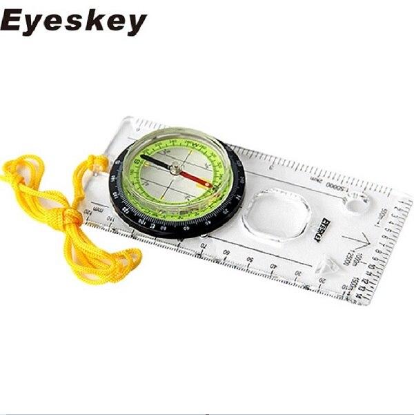 Eyeskey открытый кемпинг компас направленная кросс-кантри гонки туристический компас Baseplate с линейкой карта весы Ночная bussola - Цвет: Зеленый