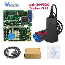 Светодиодный Светодиодный чип OBD 2 OBD2 автомобильный диагностический инструмент PP2000/Lexia-3 для Citroen и для peugeot бесплатно Diagbox V7.8.3