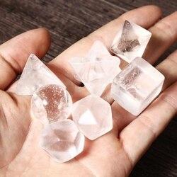 7 teile/satz Natürliche Stein Healing Chakra Kristall Plantonic Feststoffe Geometrie Energie Steine Decor 7 Klar Quarz 18-25mm