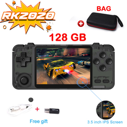 Willkey RK2020 3D игры ретро консоль HD 3,5 дюймов IPS экран портативная игровая консоль PS1 N64 игры Видео игровой плеер