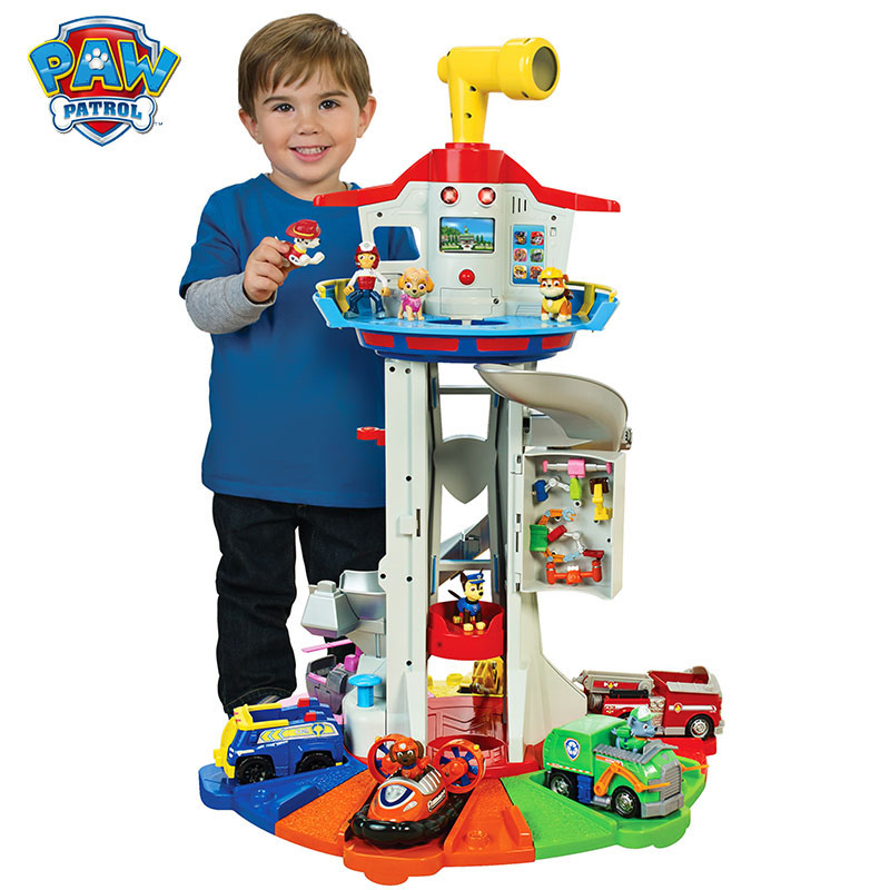 Oversized Tower Paw Patrol Puppy Headquarters Toy With Music Patrulla Canina Paw Patrol Lookout Tower Toys Set Kid's Gift