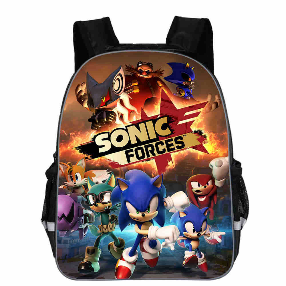 High Quality Sonic School Backpack Children Boys Girls Daily Bags Popular Pattern Laptop Backpack With Reflective Stripe
