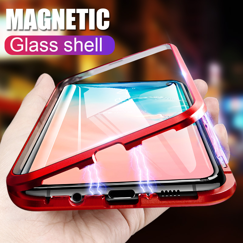 ZNP Magnetic Full Cover Case For Xiaomi Redmi Note 7 6 5 Pro Tempered Glass Magnet Cases For Redmi 6 Pro Redmi 7 6 6A Phone Case
