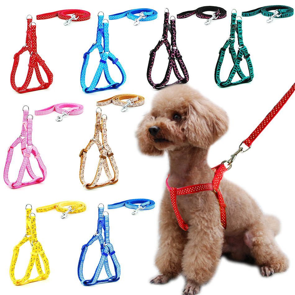 Small Dog Cat Harness Leash Adjustable Vest Collar Puppy Outdoor Walking Chihuahua Terier Schnauzer