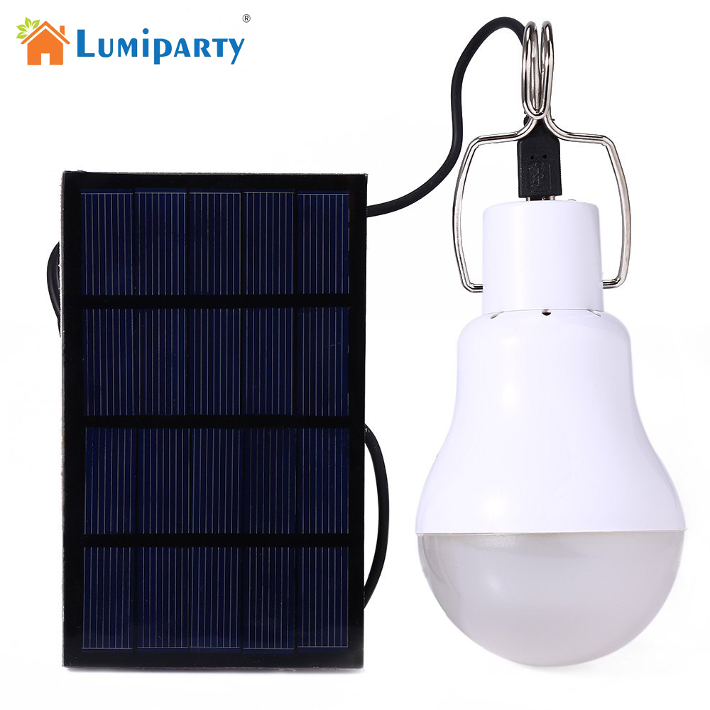 LumiParty 15w Solar Powered Portable Led Bulb Lamp Solar Energy lamp led lighting solar panel light Energy Solar Camping Light