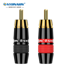 2Pcs/1Pair Hight Quality Gold Plated RCA Connector RCA male plug adapter Video/Audio Wire Connector Support 8mm Cable black&red 4pcs lot diy rca plug hifi goldplated audio cable rca male audio connector gold adapter for cable
