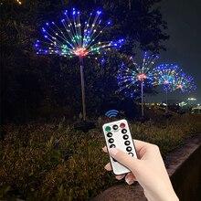 2/8 Modes LED Solar Fireworks Lights 90 120 150LEDs Waterproof Remote control String Light For Christma Novelty Decoration