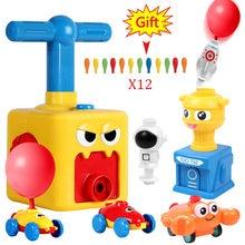 Voiture avec lanceur de ballons, jouet d'expérimentation scientifique, éducatif et amusant, pour enfants