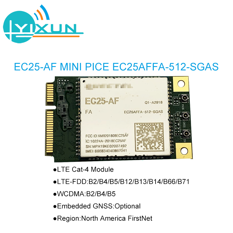 EC25-AF EC25 EC25AFFA-512-SGAS Mini Pcie B2/B4/B5/B12/B13/B14/B66/B71 4G FDD-LTE/TDD-LTD CAT4 Module For North America FirstNet