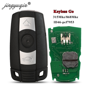 jingyuqin 315Mhz 868MHz Keyless-Go Remote Smart Key for BMW 3/5 Series CAS3 X5 X6 Z4 Car ID46 Pcf7953 Comfort Access Hands Free(China)