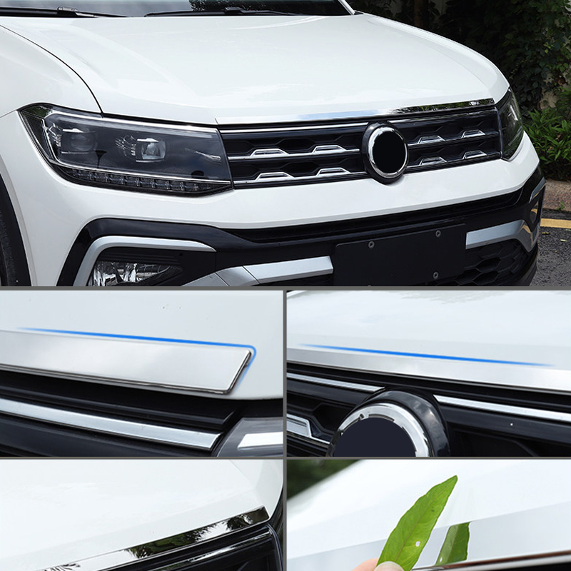 Car Styling Accessories Exterior Front Engine Hood Lid Protector Frame Cover Trim Compatible For Volkswagen VW T-Cross 2019 2020