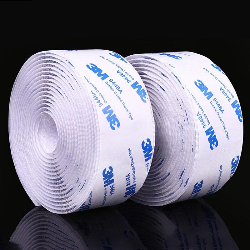 5M/pairs 16/20/25/30/38/50mm Strong Self Adhesive Fastener Tape Nylon Hooks And Loops Sticker Velcros Adhesive 3M Glue Magic DIY