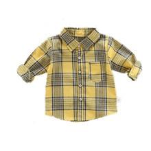 2019 new baby boys shirt fashion long sleeve  cotton plaid spring red quality shirts