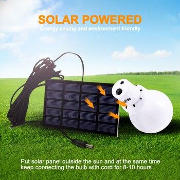 На открытом воздухе 12 Светодиодная лампа на солнечных батареях переносная лампа на солнечных батареях перемещение висит аварийного освещения энергосберегающие палатка светильник солнечный светильник Инж