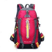 Mochilas de viagem caminhadas mochila escalada mochila 40l acampamento caminhadas mochila feminina saco de trekking para homem
