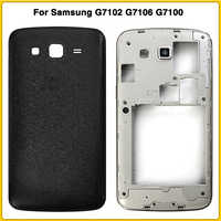 New Full Housing Case For Samsung Galaxy Grand 2 II G7102 G7106 G7100 Battery Back Cover Door Rear Cover Middle Frame Plate