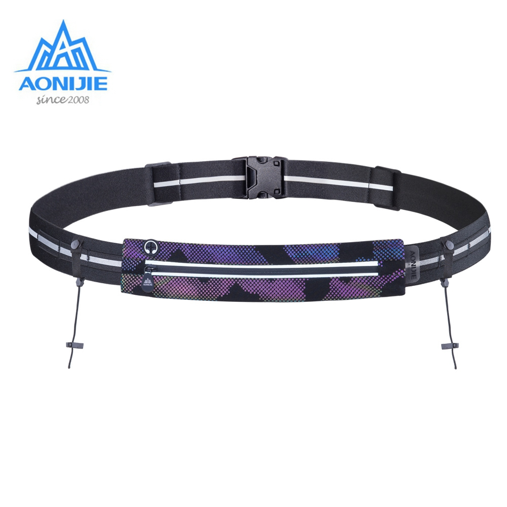 AONIJIE W966 Waist Bag Race With Number Belt Phone Holder Pack For Triathlon Marathon Running  Cycling Travel Fitness
