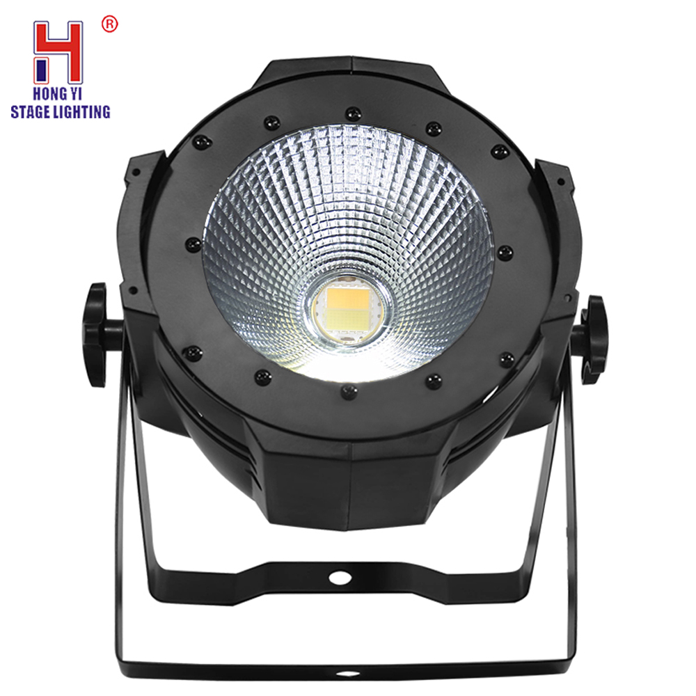 Led 100W COB Led Par Aluminum Cool And Warm White 2IN1 Lighting Lamp DMX For Stage Effect DJ Disco Lighting