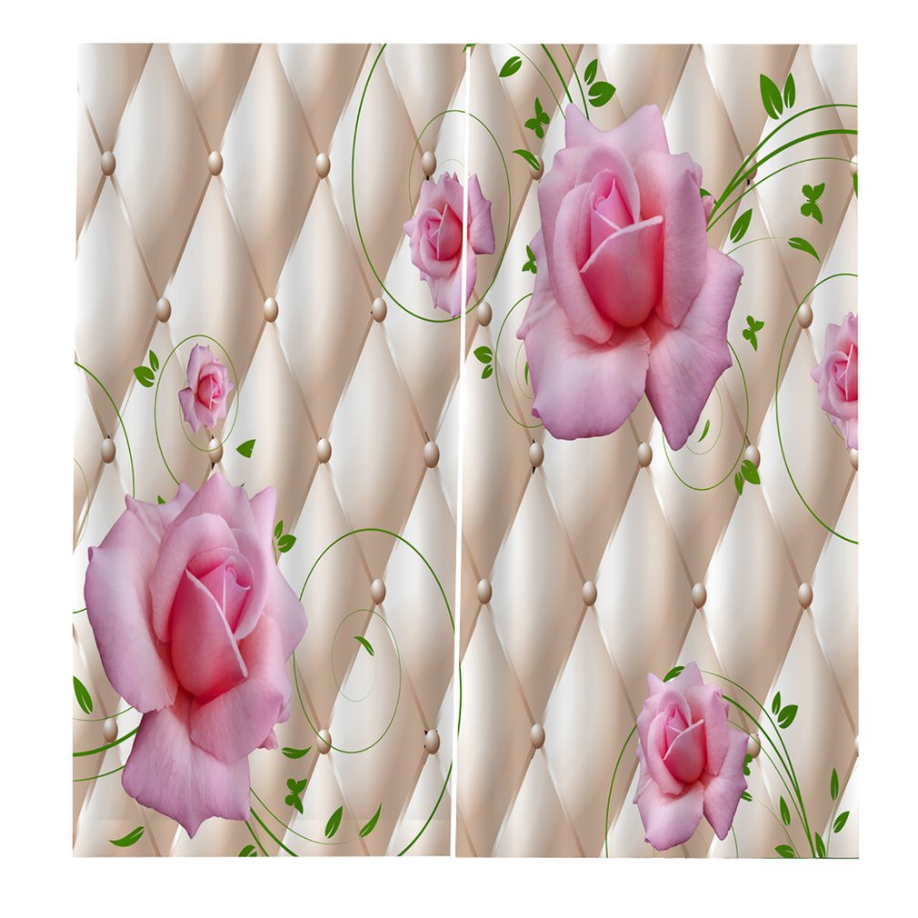 3D Curtain UV-proof Bedroom Living Room Curtains Washable Shield BJQ-1400 (1) Perfect Screening Home Room Decorations