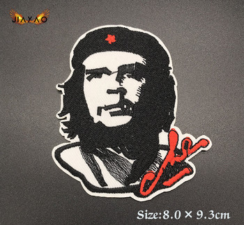DIY Individual clothing stickers che guevara Cuban Revolution Iron on stickers Patches for Clothes Hat image