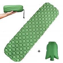 Сверхлегкий матрас надувной коврик с надувным мешком Надувной Спальный Коврик Надувной Матрас Кемпинг спальный коврик для туризма кемпинга