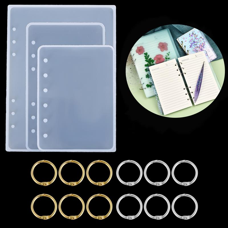 DIY Notebook Cover Resin Mold Crystal UV Epoxy Silicone Molds Transparent Book Creative Gift Resin Casting Molds Resin Craft