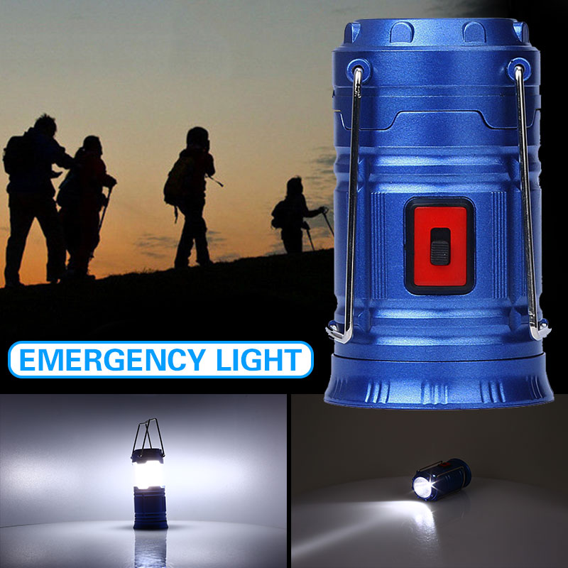 Camping Lantern Emergency Light Sports Lamp Rechargeable Portable COB LED Super Bright Outdoor Flashlight Lights Sport