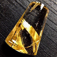 Top Natural Gold Rutilated Quartz Pendant For Women Man Clear Crystal 27x17x8mm Beads Gemstone Fashion Jewelry AAAAA Certificate